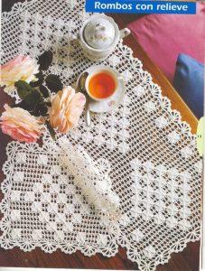 Camino para mesa a crochet