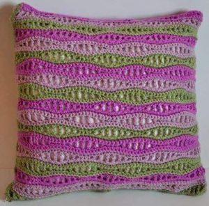 Cojines hechos a crochet