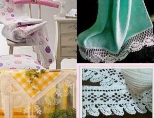 Orillas de crochet para servilletas