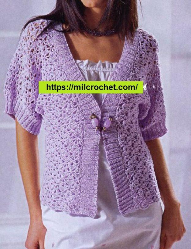 Chaleco Crochet en Lila