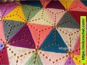 Cojín Crochet con motivo Triangular
